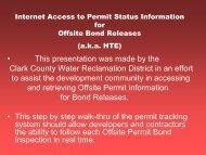 Public Access to Permit Status Information - Clark County Water ...