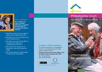 8378 Phila Court lealfet - Family Housing Association (Wales)
