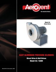 Pressure Blowers Cast Aluminum (Models CA, CABD) - Aerovent