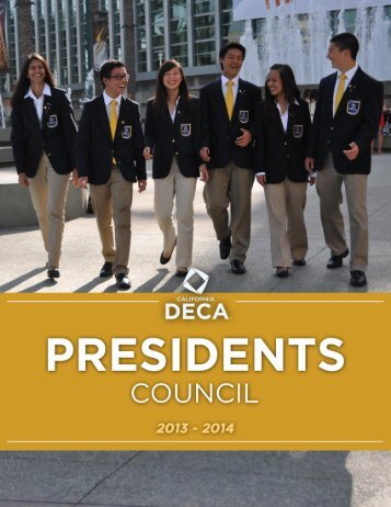 Learn More About the California DECA Presidents Council (PDF)
