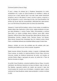 Discurso Presidente da Academia Amazonense de Letras
