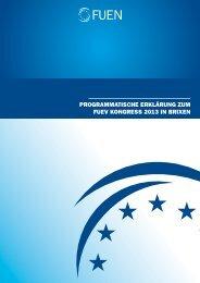 Programmatische Erklärung 2013 - FUEN
