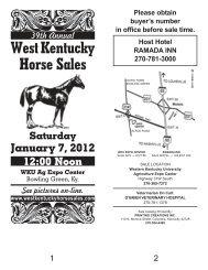 Motels — RAMADA INN - West Kentucky Horse Sales