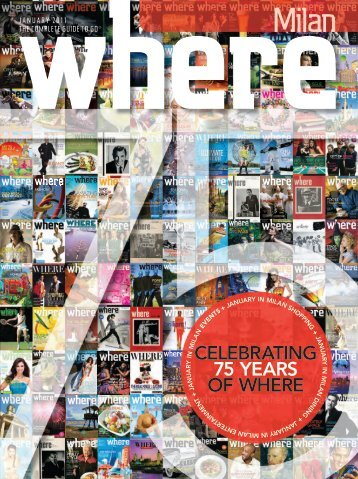 CELEBRATING 75 YEARS OF WHERE - Where Milan