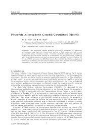Petascale Atmospheric General Circulation Models - IMAGe