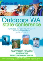 Download the Registration Brochure and Program - Outdoors WA