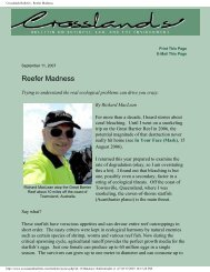 Crosslands Bulletin - Reefer Madness - Competitive Environment, Inc.