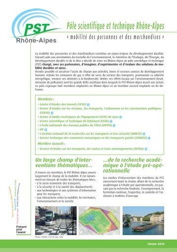 Pôle scientifique et technique Rhône-Alpes - Ministère du ...