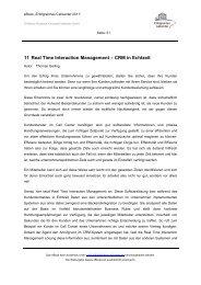 11 Real Time Interaction Management – CRM in Echtzeit