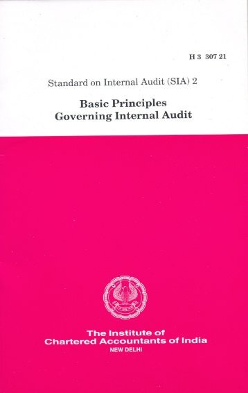 (SIA) 2, Basic Principles Governing Internal Audit - CAalley.com