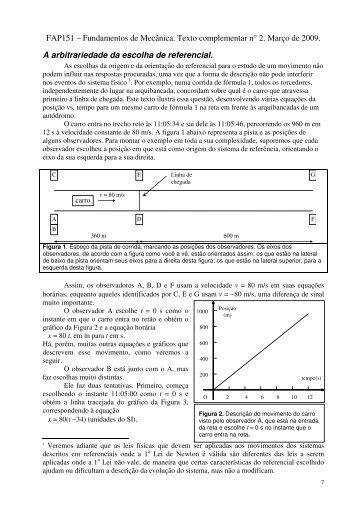 FAP151 – Fundamentos de Mecânica. Texto complementar n ... - Plato