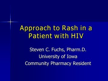 Approach to Rash in a Patient with HIV