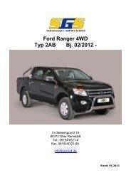Ford Ranger 4WD Typ 2AB Bj. 02/2012 - - SGS