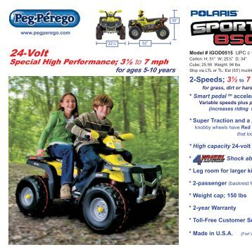 Polaris 850 gold 1 24 2012.indd - Academy Sports + Outdoors