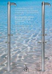 Colonne doccia e lavapiedi inox per esterno antivandalo - River SPA