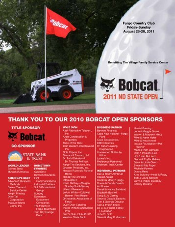 thank you to our 2010 bobcat open sponsors - The Village Family ...