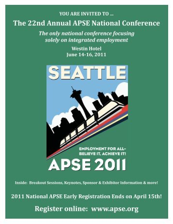 The 22nd Annual APSE National Conference ... - Side Street Shop