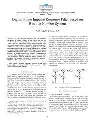 Digital Finite Impulse Response Filter based on Residue Number ...