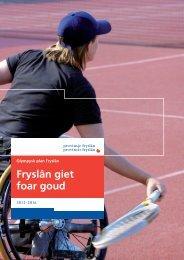 Olympisch plan 2012-2016 - Provincie Fryslân