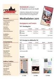 Mediadaten 2011 Anzeigenpreise und Formate