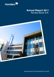 Annual Report 2011 Nordea Bank S.A. - paperJam