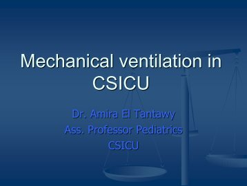 Mechanical Ventilation in Congenital Heart Disease - PCSICU.com