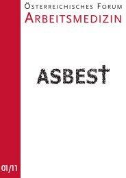 Asbest - Österreichische Gesellschaft für Arbeitsmedizin