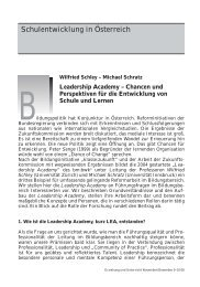 Chancen und Perspektiven für die - Leadership Academy