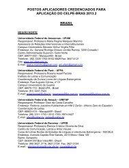 postos aplicadores credenciados para aplicação do celpe ... - Inep