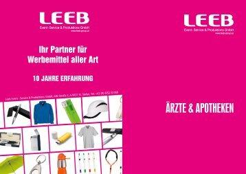 Ärzte & Apotheken - Werbeartikel Leeb