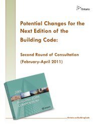 Round 2 Building Code Consultation Paper - Financial Analysis and ...