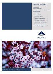 Profile's Corner - Profile Financial Services