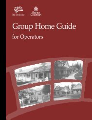Group Home Guide for Operators - BC Housing