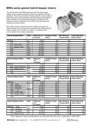 Geared Hybrid Stepper Motors datasheet - Mclennan Servo ...