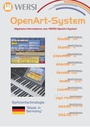 OpenArt-System - Wersi Orgel Studio Thum, Orgeln Keyboard ...
