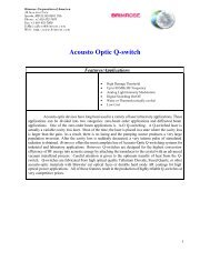 Acousto Optic Q-switch - Brimrose Corporation of America