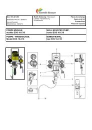 POMPE MURALE, modèle EOS 10-C18 WALL ... - Kremlin Rexson