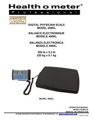 DIGITAL PHYSICIAN SCALE MODEL 498KL BALANCE ...