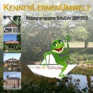 Programmheft 2009/2010 - KennenLernenUmwelt