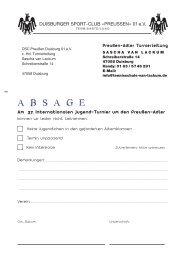 A B S A G E - DSC Preußen von 1901 e.V.
