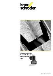 Gas-Magnetventile Solenoid valves for gas Electrovannes VGP