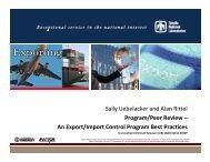 An Export/Import Control Program Best Practices - Acquisition ...