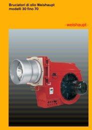 Bruciatori di olio Weishaupt modelli 30 fino 70