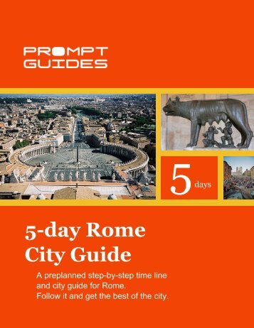 5-day Rome City Guide - Prompt Guides