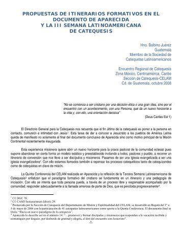 Propuesta de itinerarios formativos de catequistas - Centro Nacional ...