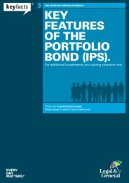 KEY FEATURES OF THE PORTFOLIO BOND (IPS). - Legal & General