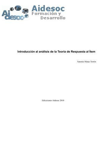 Introducción al análisis de la Teoría de Respuesta al Ítem