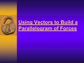 Using Vectors to Build a Parallelogram of Forces