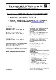 Ausbildung VDST-CMAS-Taucher** 2012 - LTVT