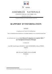 Rapport d'information en conclusion des travaux de la ... - Fapee.com